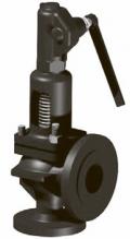 Клапан предохранительный сбросной пружинный, со вспомогательным колоколом, угловой, фланцевый Тип Si 6102, Si 6302, Si 6302.11A, Si 6302 CrNi