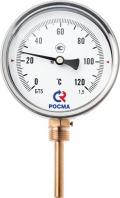 Биметаллический термометр БТ-52 радиальный — Ø100