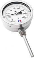Биметаллический термометр БТ-52 радиальный — Ø100 - коррозионностойкий