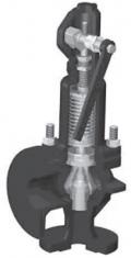 Клапан предохранительный сбросной пружинный, со вспомогательным колоколом, угловой, фланцевый Тип Si 6301
