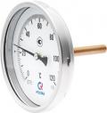 Биметаллический термометр БТ-41 осевой — Ø80