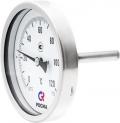 Биметаллический термометр БТ-51 осевой — Ø100 - коррозионностойкий