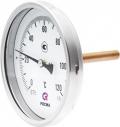 Биметаллический термометр БТ-71 осевой — Ø150