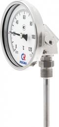 Биметаллический термометр БТ-44 универсальное присоединение - Ф80 - коррозионностойкий